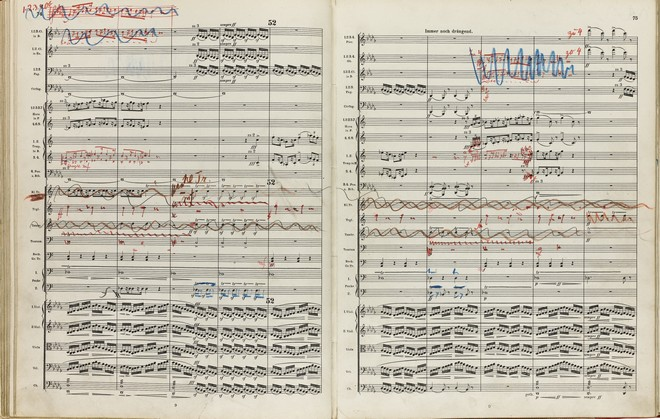 Mahlerova partitura (foto archiv autora)