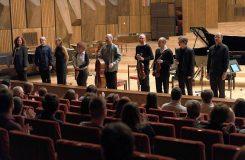 Tristan Murail na závěrečném koncertě Melos-Étos