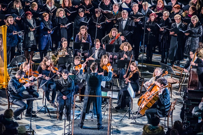 Novoroční koncert – Jiří Najvar, Chamber Symphony Orchestra Brno, SPS Smetana Hulín – Brno 3. ledna 2018 (zdroj CHSOB / foto Petr Hrubeš)